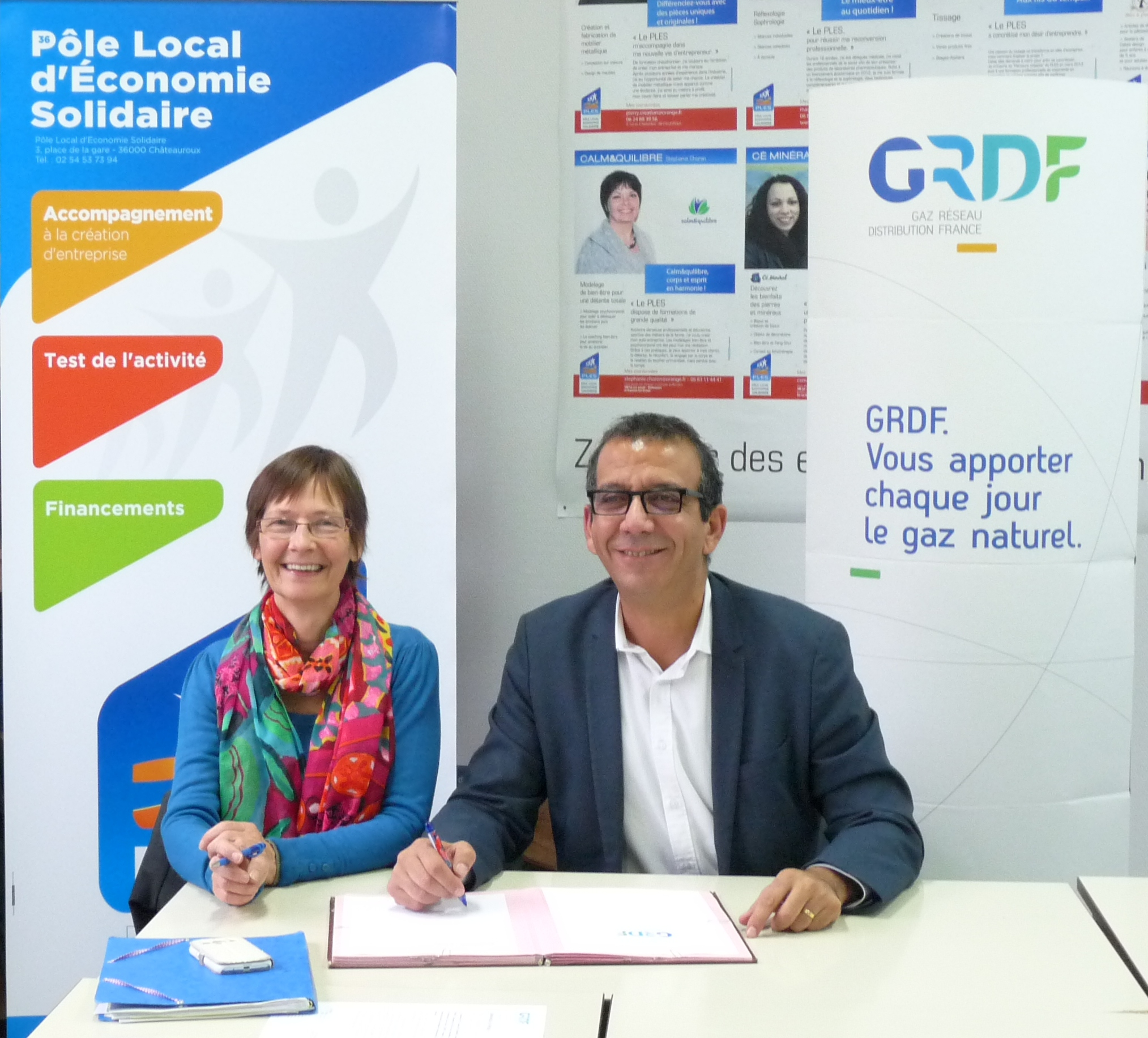 Convention de partenariat entre le PLES et GRDF
