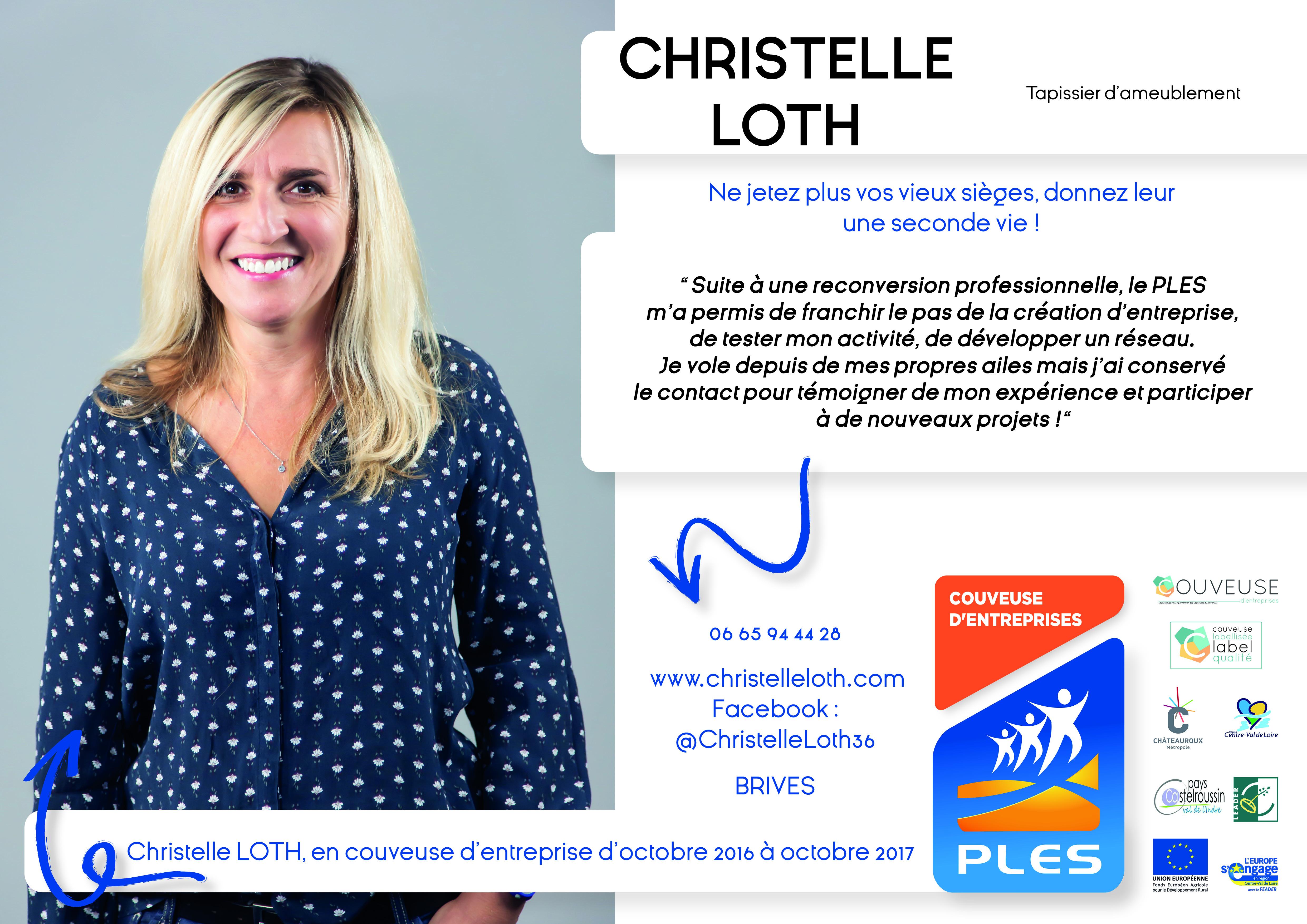 Christelle Loth, entrepreneure à la Boutique du PLES d'Ici Et Deux Mains