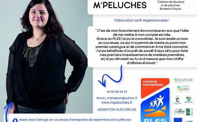 Marie-Jean DEFORGE, entrepreneure à la Boutique du PLES d'Ici Et Deux Mains