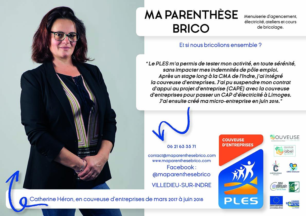 Catherine Héron, entrepreneure à la Boutique du PLES d'Ici Et Deux Mains