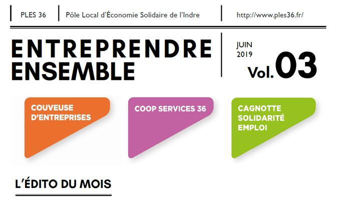 Entreprendre ensemble 03 : le bulletin trimestriel du PLES