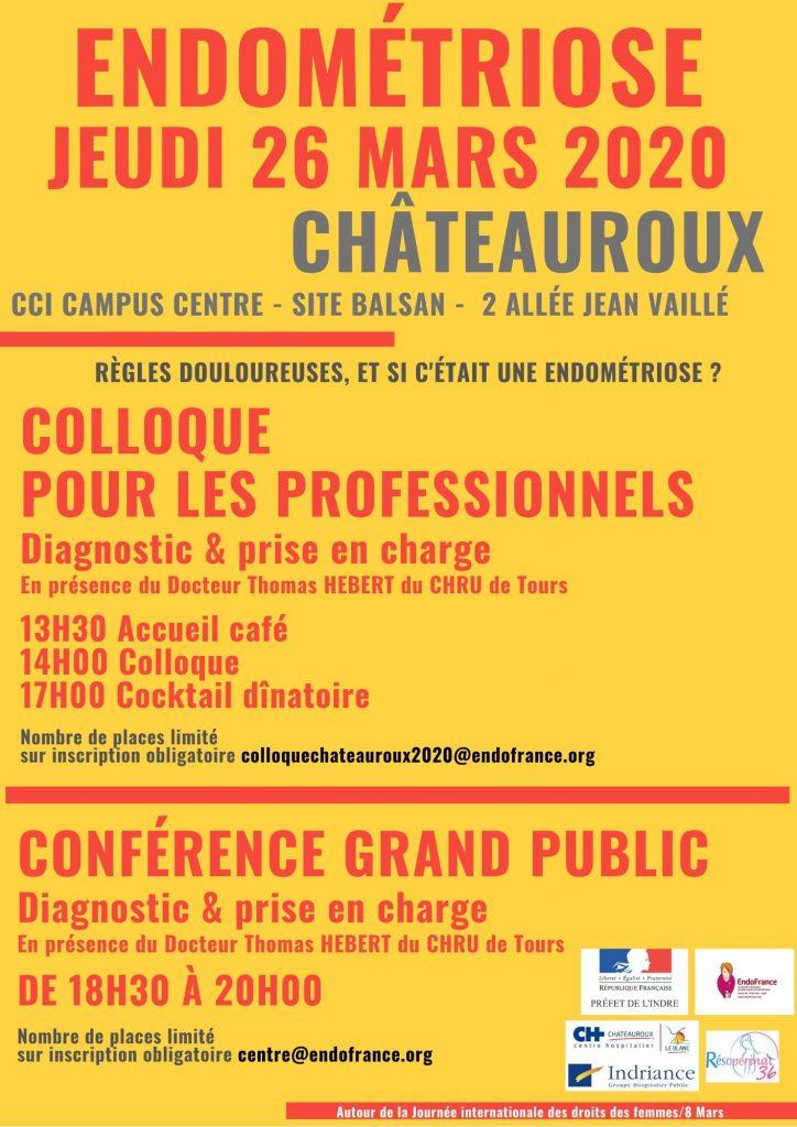 ENDOMETRIOSE 26 03 2020 COLLOQUE & CONFERENCE CHATEAUROUX