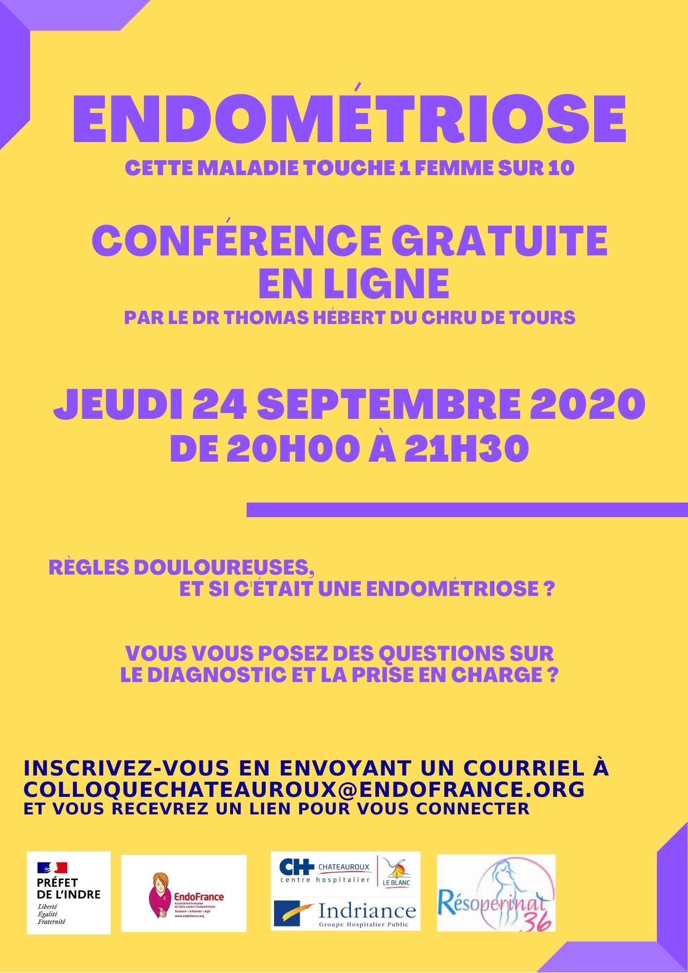 Conférence gratuite en ligne sur l'endométriose
