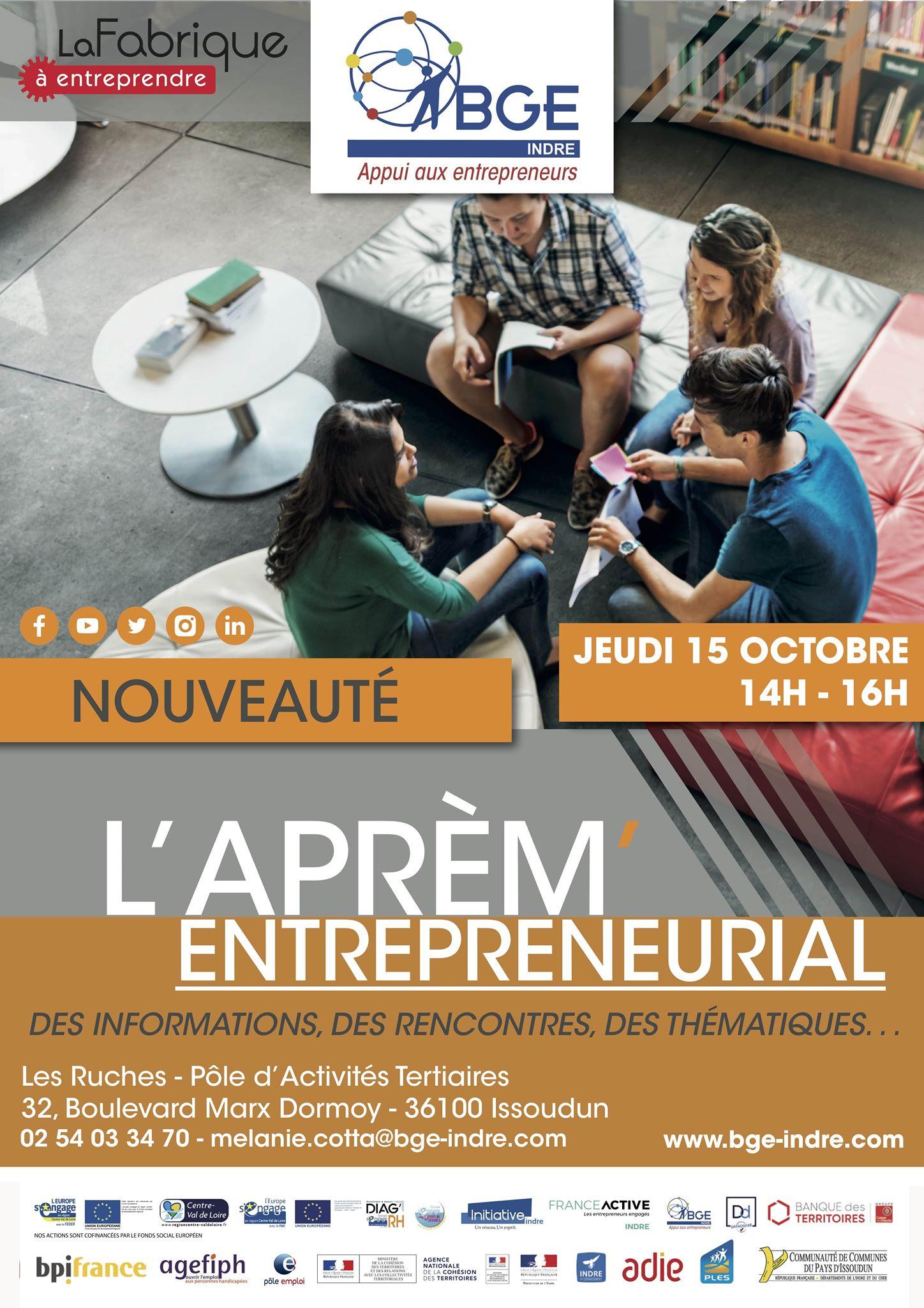 Participation du PLES à l'Aprem Entrepreneurial de la BGE