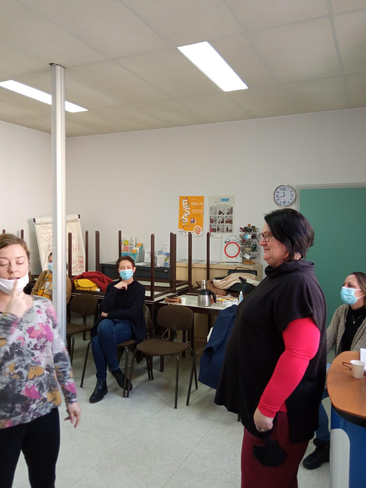 Atelier théâtre «Confiance en soi» dans les locaux du PLES