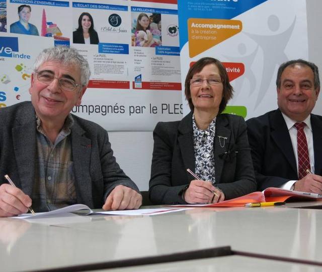 Le PLES, la BGE et Indre Initiative se rapprochent