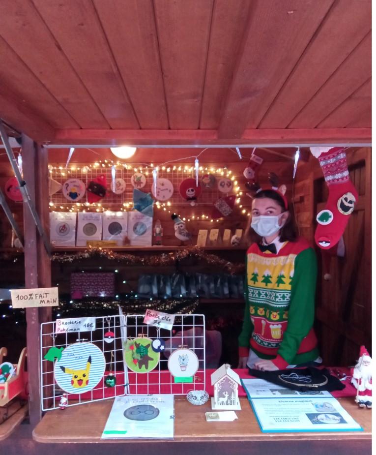 Participation d'une EAE en Couveuse d'entreprises du PLES au marché de Noël de Châteauroux